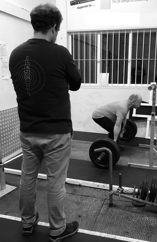 Coaching the deadlift training